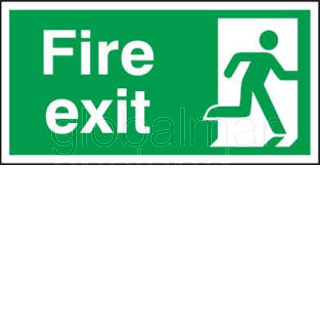SEÑAL FIRE EXIT RIGHT 30X15 ADHESIVA REF 4024 GD