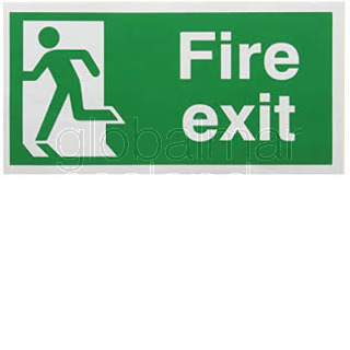 SEÑAL FIRE EXIT LEFT 30X15 ADHESIVA REF 4025 GD